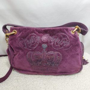Juicy Couture Royal Purple Crown Hand Bag